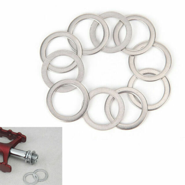 2 Pcs Bicycle Pedal Spacer Crank Cycling MTB Bike Stainless Steel Ring Washers