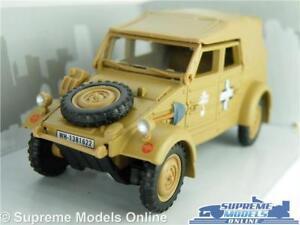 VW VOLKSWAGEN KUBEL WAGON TYPE 82 CAR MODEL 1:43 SIZE SAND 1940 CARARAMA ARMY T4