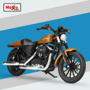 Maisto-1-18-Harley-Davidson-2015-Sportster-Iron-883-Motorcycle-Diecast-Model-Toy