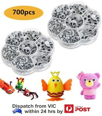700x Self-adhesive Mixed Eyes For Toys Doll Googly Wiggly Eyes DIY Accessories~
