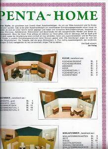 Eine VollstäNdige Palette Von Spezifikationen 60er Ausschneidebogen Modellbogen Wohnhaus Penta-home Fünfeckhaus Top Alt