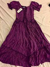 Womens Renaissance Deep Plum Purple Dress Perfect For Larping Size Small  Coline