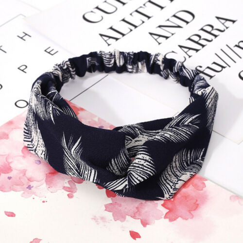 Elastic Head Hair Fashion Turban Band Knot Wrap Headband Women Knotted For Girls