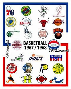 1967 68 Season Aba Nba Team Logo S Color 8 X 10 Photo Picture Ebay