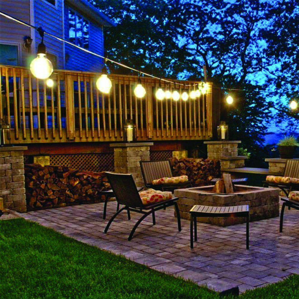 10 Bulb Garden Design Ideas: 10 Led Solar Powered Retro Bulb String Lights Garden