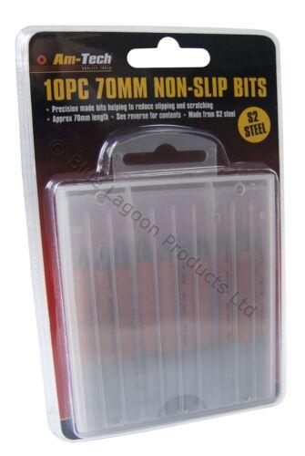 10 x 70mm Non Slip Screwdriver Drill Bits Skid Prevention Screw Hex Pozi Phillip