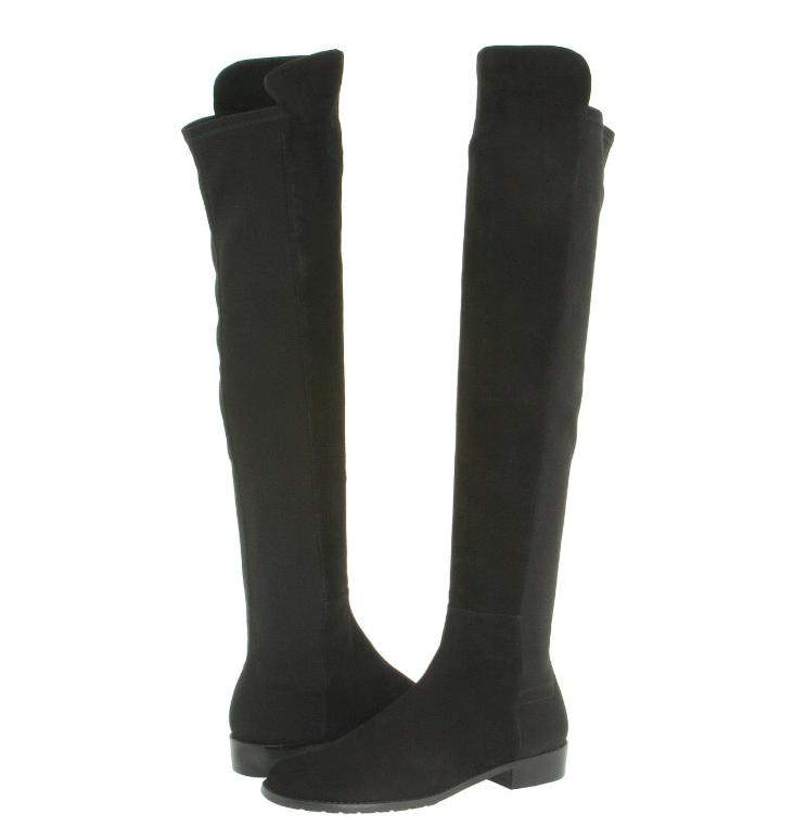 Stuart Weitzman Womens Black Suede Over The Knee Boots Sz 8 W 3865