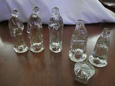 6 PIECE  SMALL SIZE GLASS NATIVITY SET