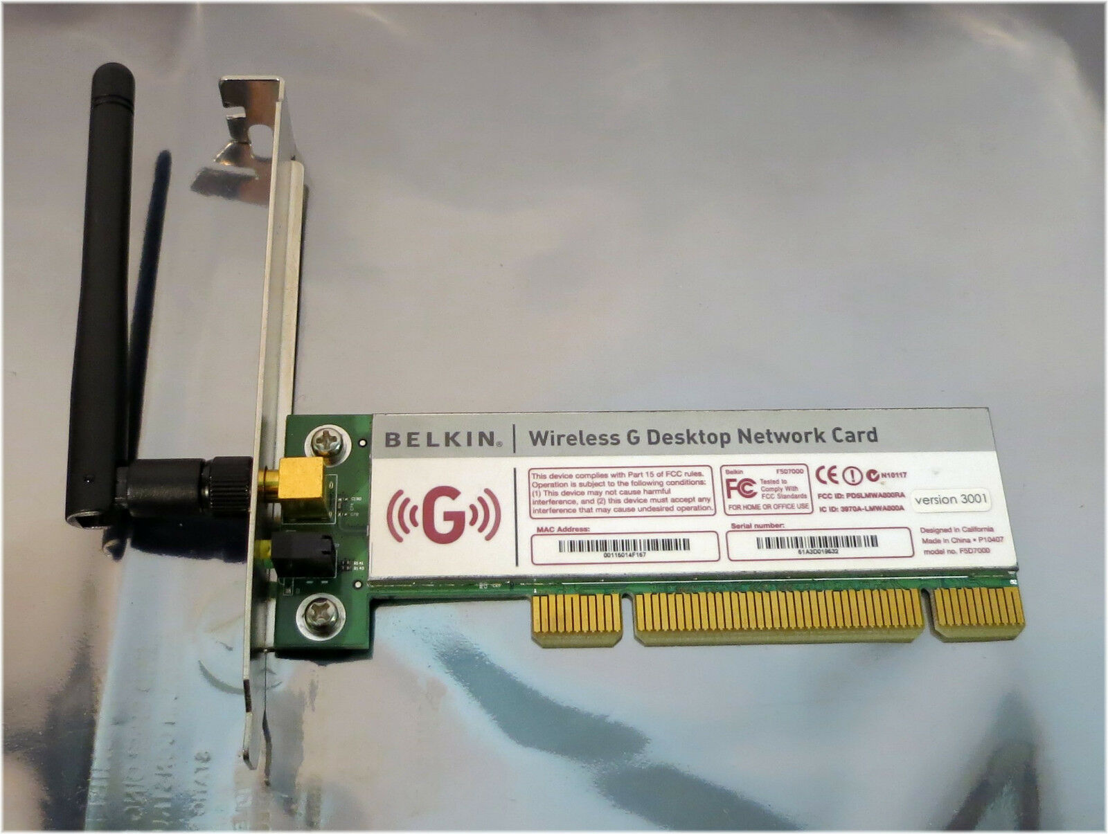 F5D7000 Wireless Desktop Network Card