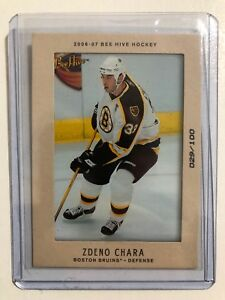 2006-07-UD-BEE-HIVE-Hockey-94-Zdeno-CHARA-MATTED-Insert-Numbered-29-100-NM-MT