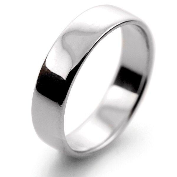 9CT WHITE gold SOFT COURT WEDDING RING ANY HANDMADE 3MM-8MM HEAVY WEIGHT