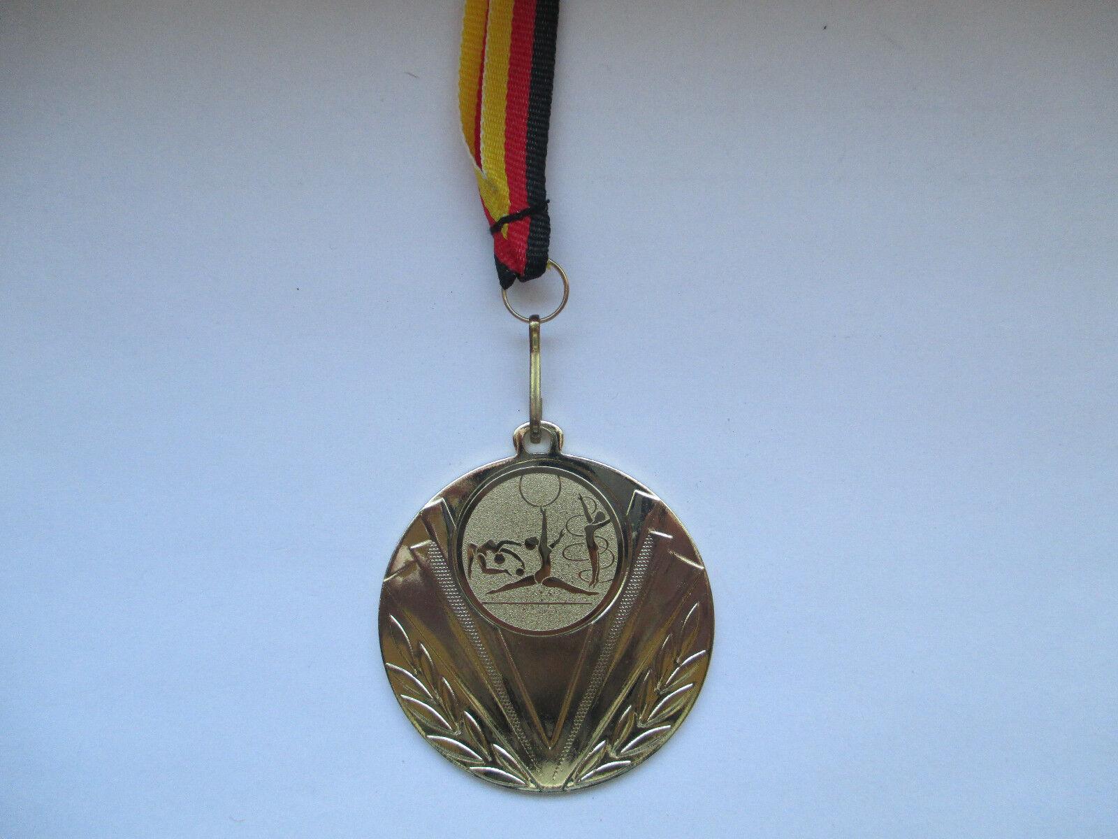 Gymnastik Pokal Kids Kids Kids 100 x Medaillen Deutschland-Bändern Emblem Turnier Turnen c681b3