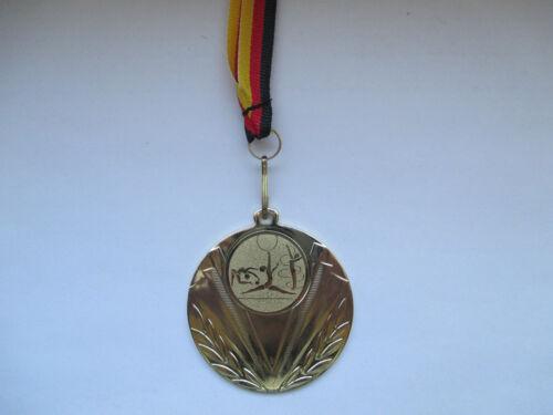 Gymnastik Pokal Kids 10 x Medaillen Deutschland-Bändern Emblem Turnier Turnen