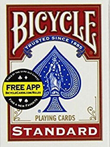 Bicycle Standard Index Poker Playing Cards 1 Sealed Red Deck