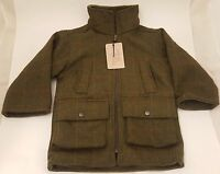 British Country Collection Boy Check Tweed Fleece Lined Jacket - Sizes S M L Xl