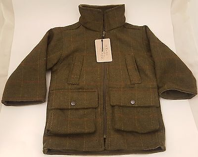 British Country Collection Boys Check Tweed Fleece Lined Gilet Sizes M-XL