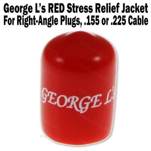 George L/'s RED Stress Relief Cap for Right-Angle Plug .155 or .225 Cable Jacket