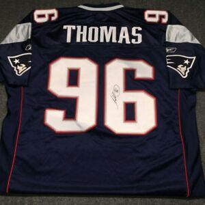 wholesale dealer 2bb5f 63958 Details about Adalius Thomas autographed authentic Reebok NFL New England  Patriots Jersey sz54