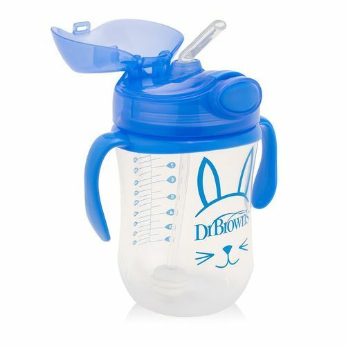 Dr Brown/'s Babys First Straw Transition Cup Blue