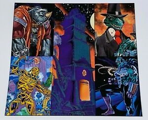 1994 Big Entertainment Tekno Comix Uncut 5 Card Promo Sheet