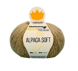 Regia 4-Fädig PREMIUM Alpaca Soft 100g mit Baby Suri Alpaka Fb 2 natur meliert
