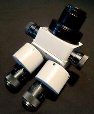 Meiji Emz 10 Zoom Stereo Microscope With Fiber Optic Ring Fk Slide Block Amp Boom
