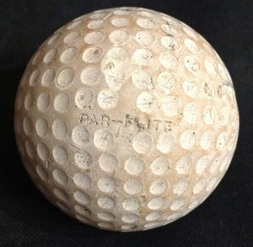 PAR-FLITE SPALDING CADWELL GOLF BALL ANTIQUE VINTAGE OLD GREAT CONDITION FOR AGE