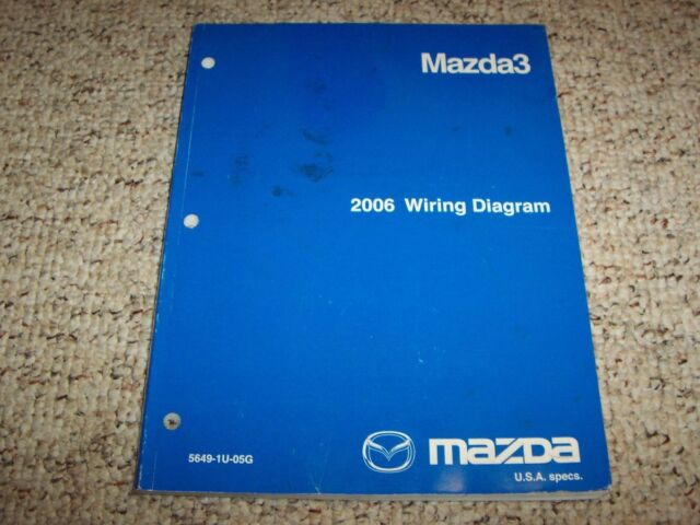 2006 Mazda3 Mazda 3 Electrical Wiring Diagram Manual I S