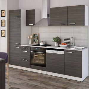 vicco k che 270 cm k chenzeile k chenblock einbauk che komplettk che anthrazit 4251421901940. Black Bedroom Furniture Sets. Home Design Ideas