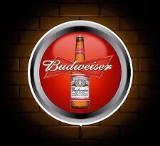 BUDWEISER BADGE SIGN LED LIGHT BOX MAN CAVE RETRO DRINK GAMES ROOM BOYS GIFT