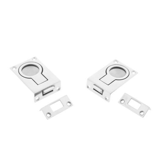 2pcs Marine Stainless Recessed Hatch Pull Buckle Floor Latch Flush Ring Pull