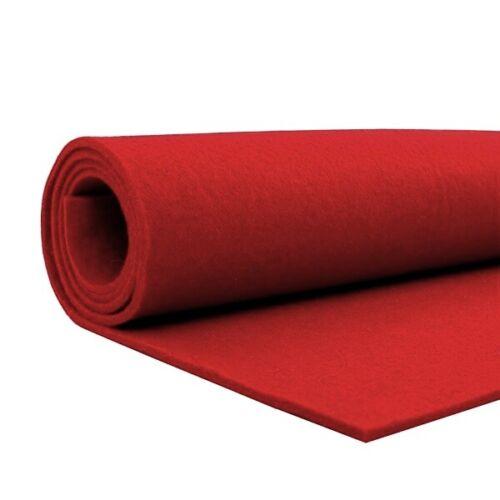 bastelfilz METERWARE lavables 3mm Dick rojo 12.00 euros//metros