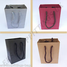 Jewellery Paper Carrier Bags With Rope Handle Gift Bags Small Accessories