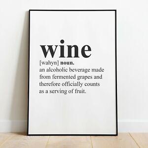 Wine Wall Print Kitchen Dining Room Home Decor Wall Art Idea Ideas Picture Ebay