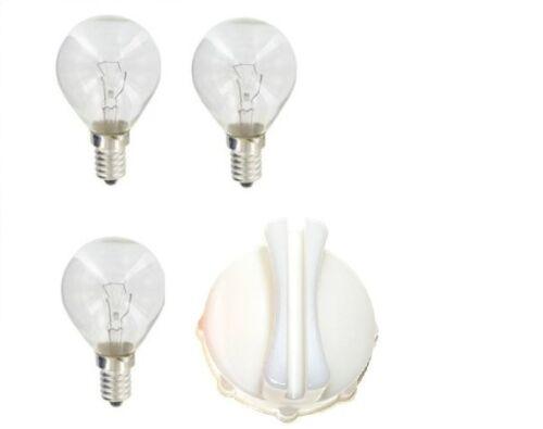 3 X Bosch Neff Siemens 40 W SES E14 Four ampoule Lampe 300 ° /& Lampe Couvrir Removal Tool
