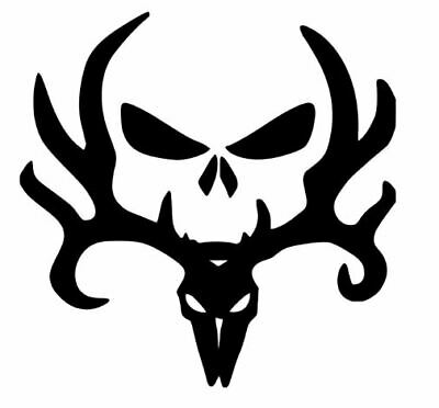 White, 8 Inch Interior//Exterior Die Cut Vinyl Decal Sticker Browning Buck Deer Head Car Laptop