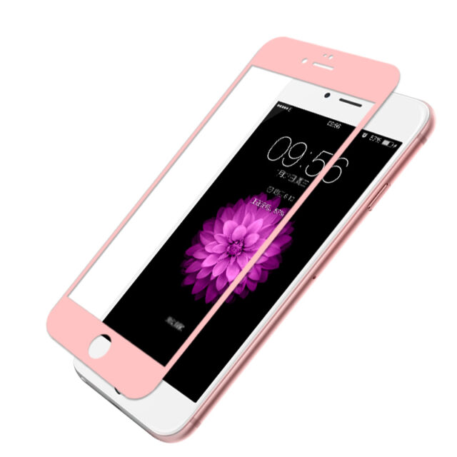 Tempered Glass Full Screen Protector Premium Rose Gold EDGE iPhone 7 Plus 5.5""