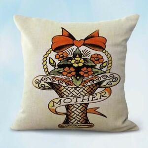 Details About Us Er Sailor Jerry Mother Flower Basket Cushion Cover Sofa Pillow Sets