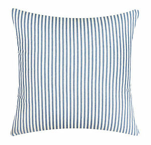 Throw Pillow Inserts 18 X 18 : Decorative Throw Pillows Pillow Covers & Inserts Blue Ticking Striped 18 x 18 eBay