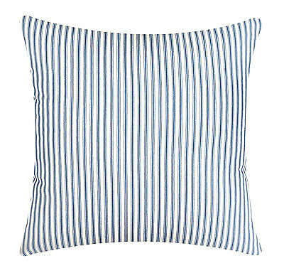 Decorative Throw Pillows Pillow Covers & Inserts Blue Ticking Striped 18 x 18