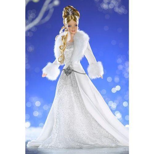 @ - Barbie  2003  invierno Fantasy  rubio oro  Holiday Vision-Designer  OVP