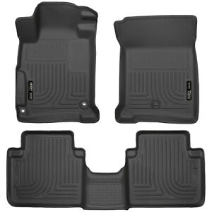 Husky-Liners-WeatherBeater-Floor-Mats-1st-amp-2nd-Row-for-2013-2017-Honda-Accord