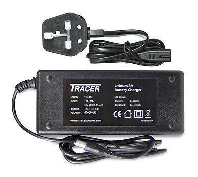 Tracer 12V 3A Lithium Polymer High Output Smart Charger for Lithium Battery Pack