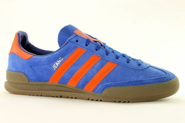Adidas Originals Jeans S79995 leather suede mens shoes trainers blue red orange
