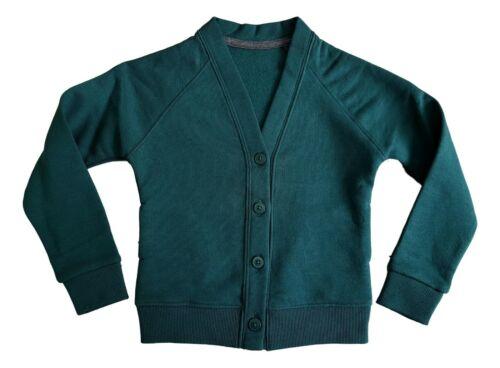 EX M S Ragazzi Ragazze Scuola Cardigan Jersey di Cotone Rich Kids Sweater uniforme NUOVO
