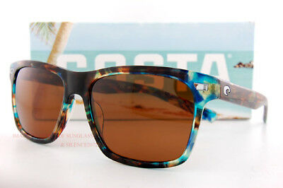 6346fcb3e99db Costa Del Mar Fishing Sunglasses ARANSAS Shiny Ocean Tort Copper 580G  Polarized