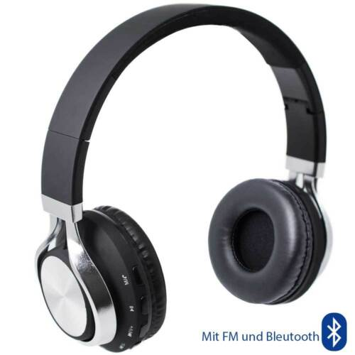 On Ear FM Bluetooth Kopfhörer mit Anruf Annahme /& Musikregler Headphone Earphone