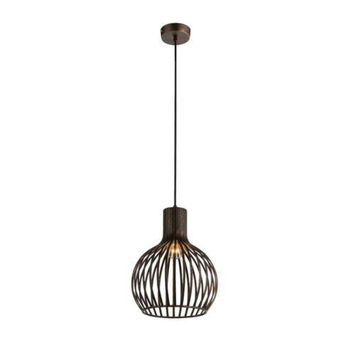 1-flg Pendel Hänge Lampe Kupfer Leuchte Licht Esszimmer Schlafzimmer Innen Raum