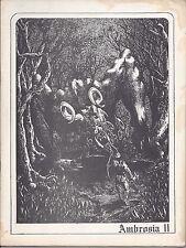 Ambrosia II edited by Alan Gullette  (1972)  Lovecraft/Cthulhu Mythos fanzine