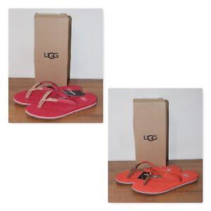 87c5e270412 Details about NWB UGG Australia Women's Magnolia Leather Flip Flop Sandals  US Size 5, 6
